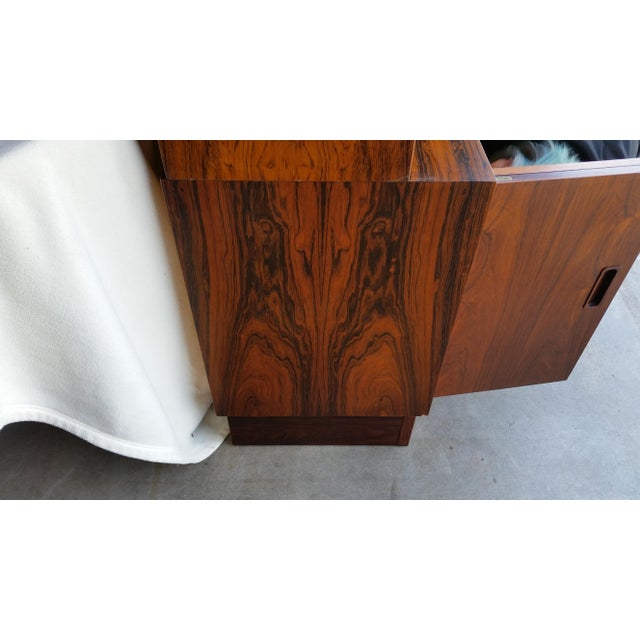 1960s 1960's Carlo Jensen Rosewood Wall Unit for Hundevad & Co For Sale - Image 5 of 12