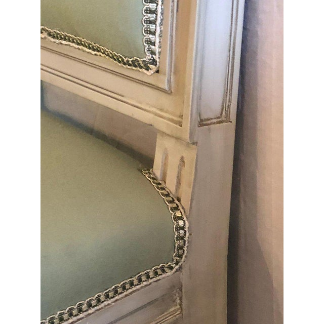 Set of 24 Jansen Inspired Gilt and Paint Decorated Side Chairs For Sale - Image 9 of 12