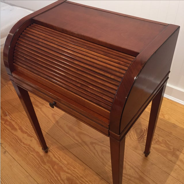 Cherry Roll Top Accent Table - Image 5 of 9