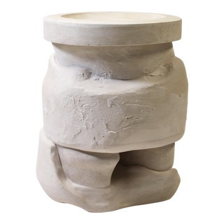 Modern Plaster Terrain Stool For Sale