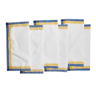 Linen Square Cloth Dinner Napkin Set-Set of 6 For Sale