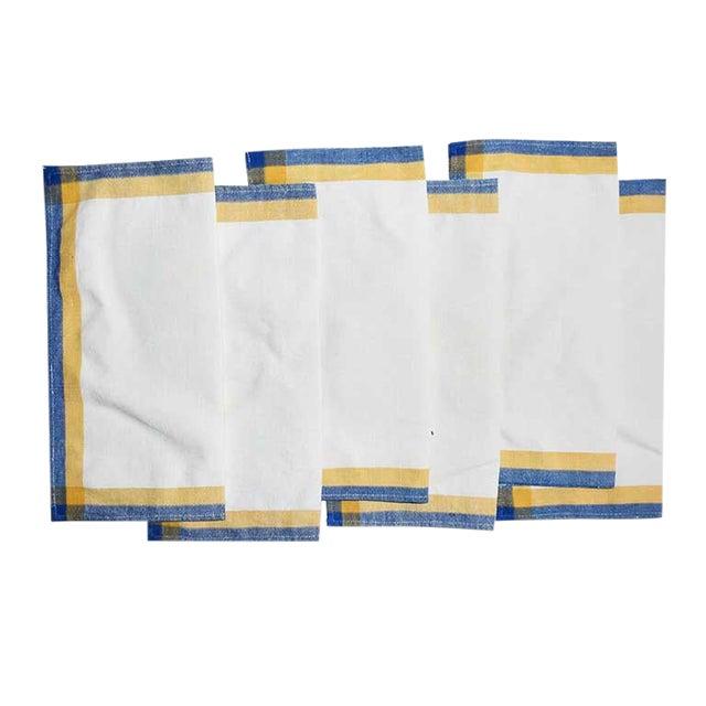 Linen Square Cloth Dinner Napkin Set-Set of 6 For Sale