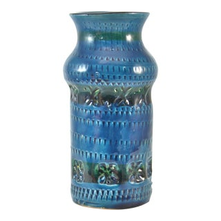 Teal Blue Bitossi Vase For Sale