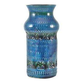Teal Blue Bitossi Vase