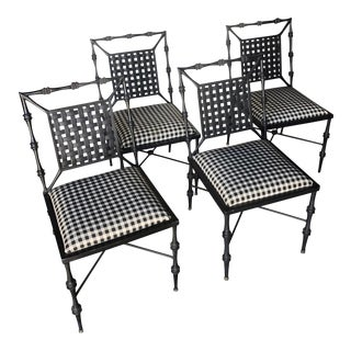 Sculptural Vintage Metal Chairs by Phyllis Morris— Set of 4 For Sale