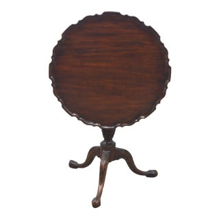 Henkel Harris Mahogany Tilt Top Table For Sale