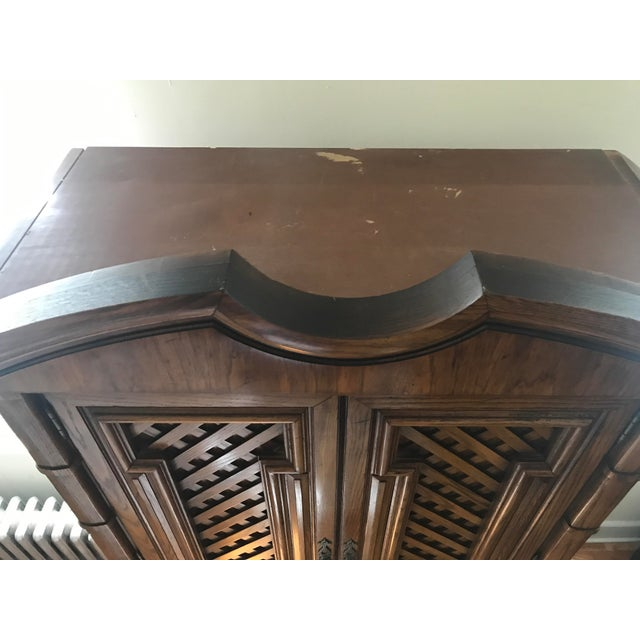 Vintage Thomasville Oak Armoire For Sale - Image 5 of 8