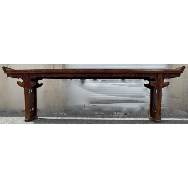 Chinese Elm Altar Large Console Table For Sale - Image 13 of 13