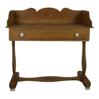 19th Century English Pine Washstand For Sale