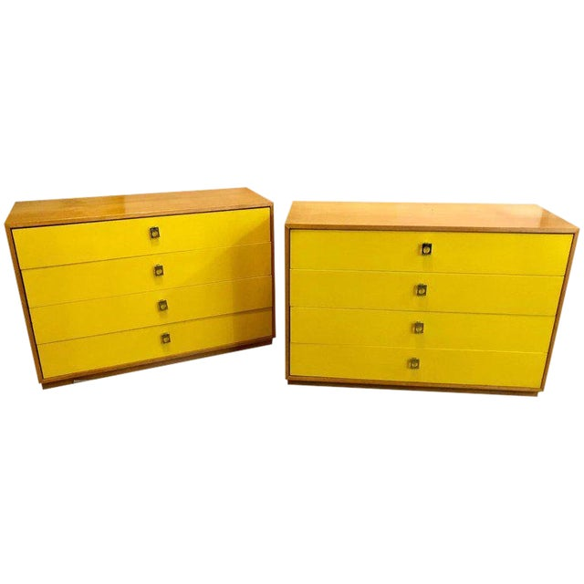 Pair of Founders Mid-Century Modern Bachelors Chests or Nightstands or Commodes For Sale