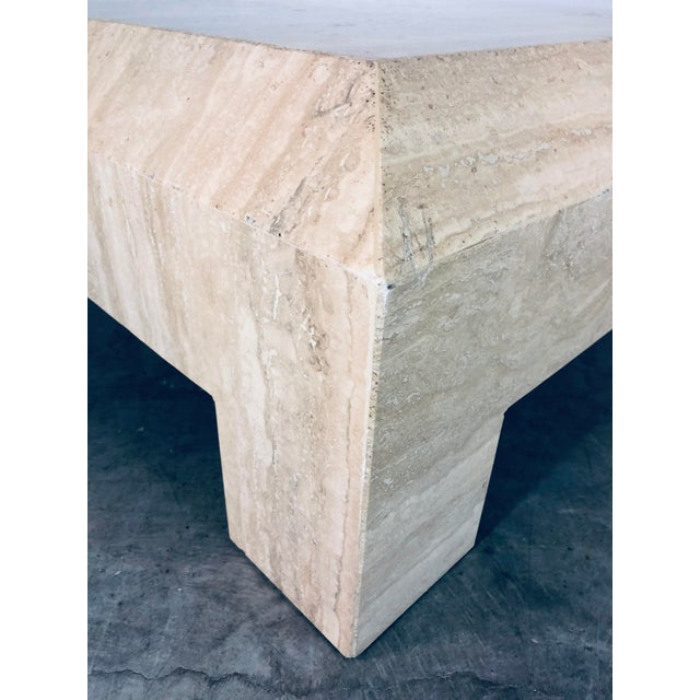 1970s Italian Travertine Coffee or Cocktail Table For Sale - Image 10 of 12