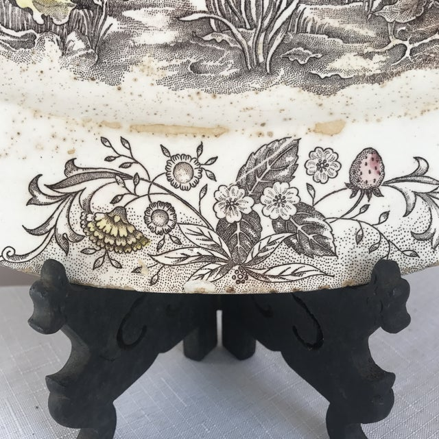Japanese Transferware Turkey Platter For Sale In Greensboro - Image 6 of 9