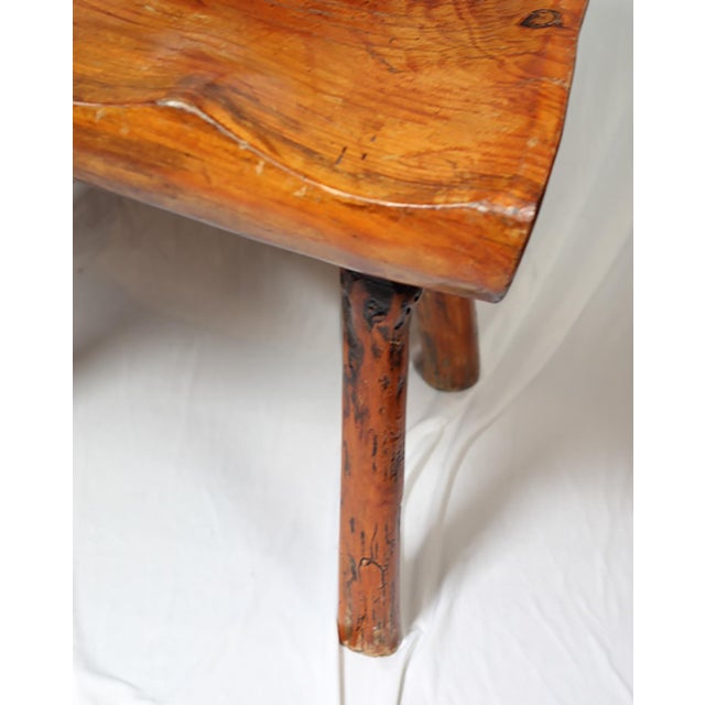 1940s Primitive Handmade Hickory Side Chair - Image 3 of 6