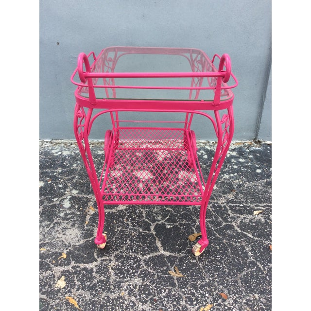 1960s Vintage Mid Century Patio Bar Cart For Sale - Image 5 of 9