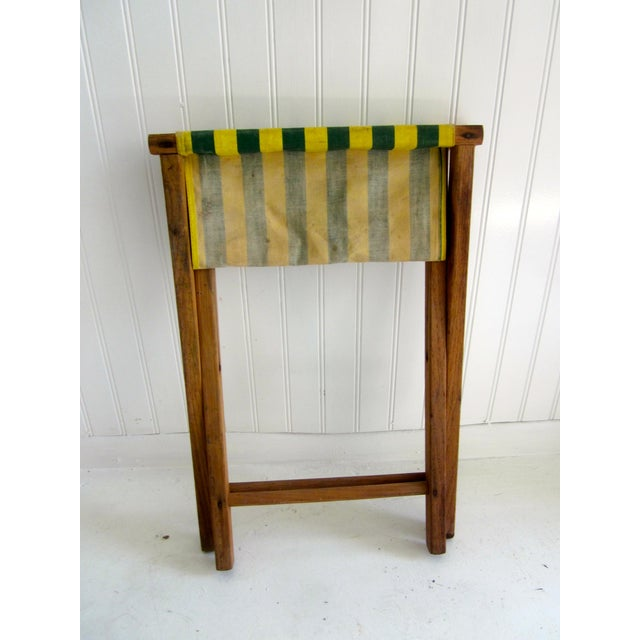 Country Folding Wood Camping Stool For Sale - Image 3 of 6