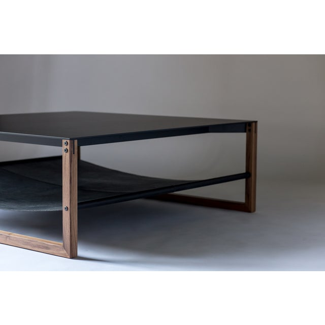 """Contemporary Sling Coffee Table - Aluminum