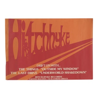 1980s Hitchhyke Hitch-Hyke Records Promotional Poster For Sale