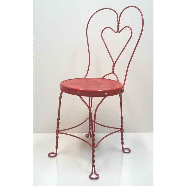 Red Iron Ice Cream Cafe Chair - Image 2 of 10