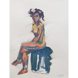 """Reinvigorated"" Original Figure Painting by Jenny Wantuch For Sale"