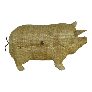 Mid-Century Mario Lopez Torres Sculptural Lidded Pig Trunk For Sale