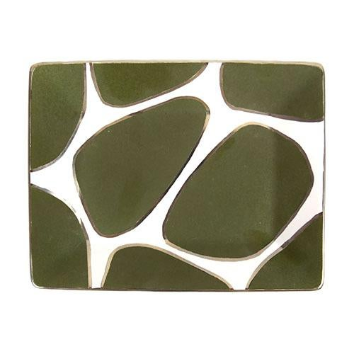 Art Deco Waylande Gregory Giraffe Print Rectangle Plate / Tray For Sale - Image 3 of 3