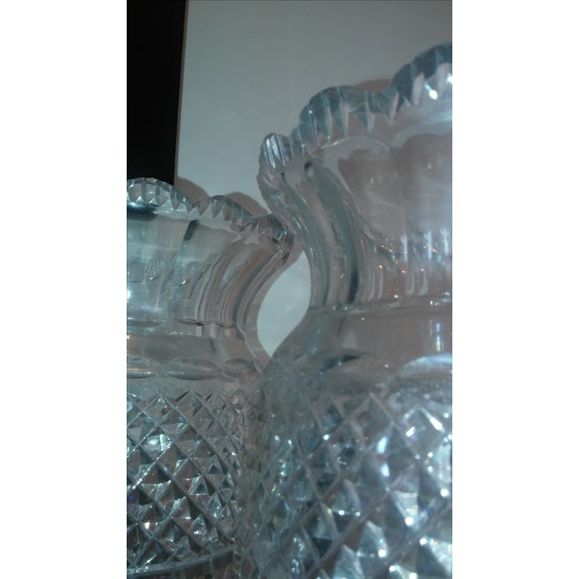 Early 19th Century Antique Large Waterford Irish Crystal Vases - 2 For Sale - Image 5 of 9