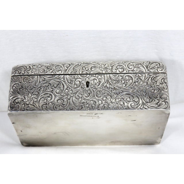 Antique 1900s Victorian Sterling Silver Jewelry Box For Sale - Image 10 of 13