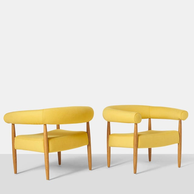 """Ring"" Chair by Nanna Ditzel A Round easy chair by Nanna Ditzel restored in a luxurious Sandra Jordan Prima Alpaca fabric..."