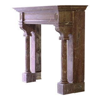 Monumental Antique Marble Neo-Renaissance Fireplace Mantel For Sale