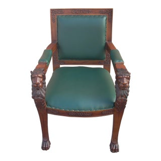1920s Baronial Lion Chair For Sale