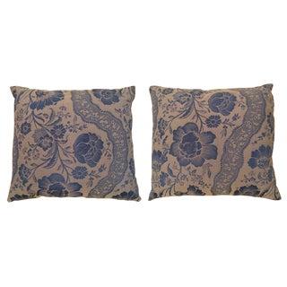 1950s Vintage Floral Decorative Pillows - A Pair For Sale