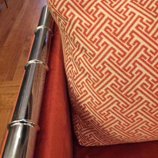 Adrian Pearsall Faux Bamboo Loveseat - Image 6 of 6