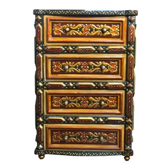 1980's Vintage Hand Painted Moroccan Style Chest Preview