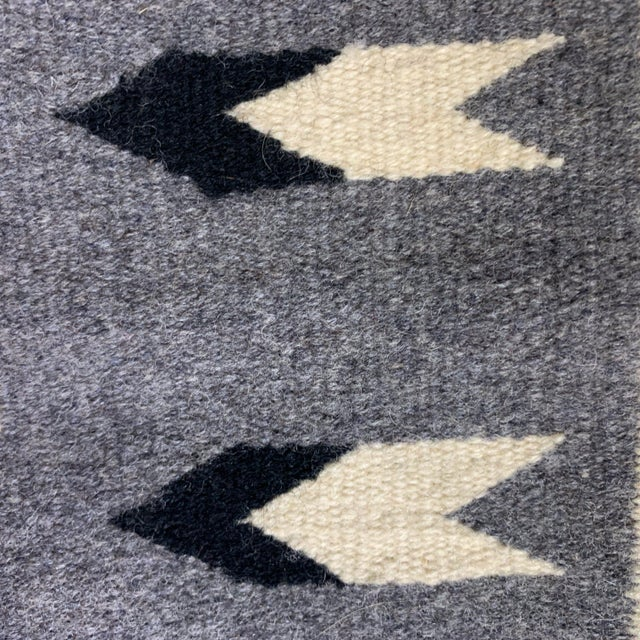 Vintage Navajo Two Grey Hills Rug-2'4'x3'9 For Sale - Image 4 of 12