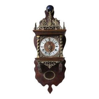 Ornate Antique Hanging Clock For Sale