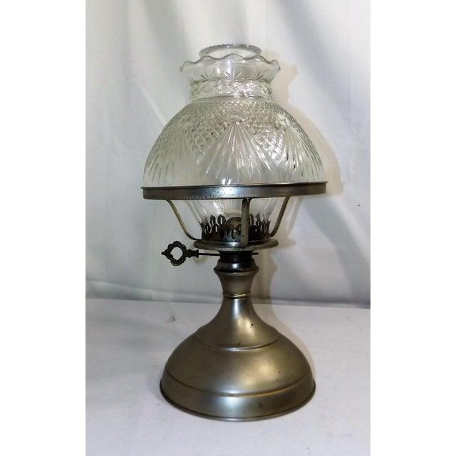 Traditional Vintage Kaadan Ltd. Wheatland Oil Lamp For Sale - Image 3 of 7