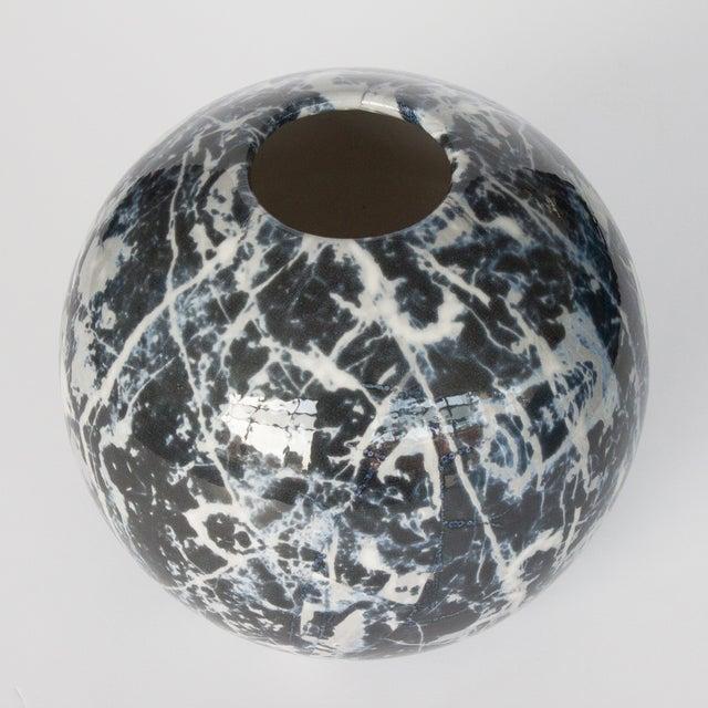 Alvino Bagni Faux Marble Ceramic Sphere Vase Chairish