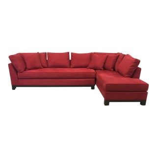 Century Furniture Microsuede Sectional Sofa