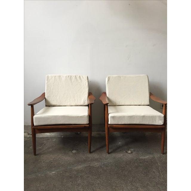 Oak Mid-Century Armchair-Single Chair - Image 7 of 11