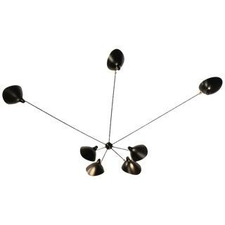 Serge Mouille Spider Seven Still Arms Sconce Lamp