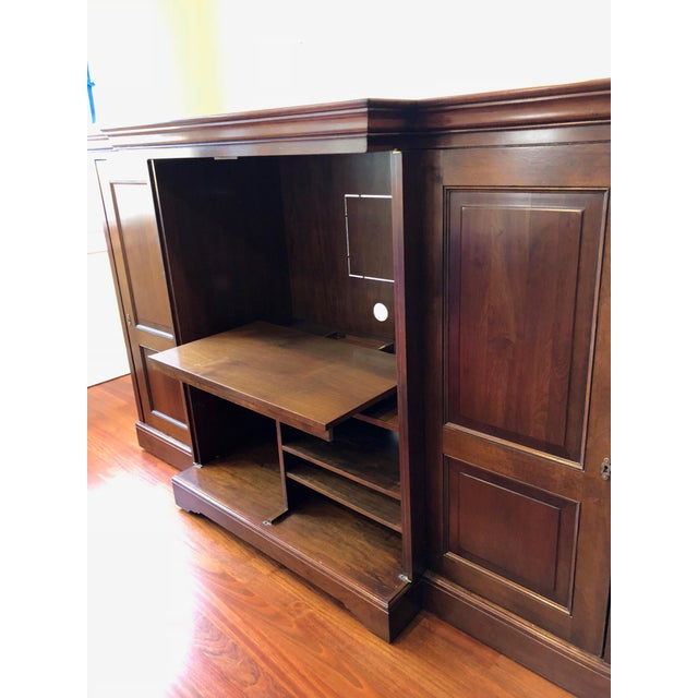 Cherry Wood Grange Louis-Philippe Entertainment Center/Armoire For Sale - Image 7 of 11