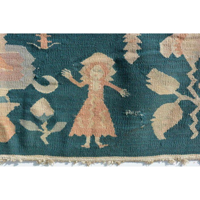 For your consideration, Mid-Century Modern wall tapestry green rug beautiful vibrant colors with great graphics and...