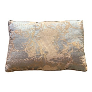 English Traditional Blue Velvet Rectangular Decorative Pillow For Sale