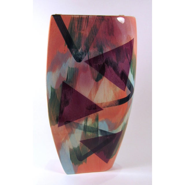 Vintage 1989 John Bergen Studio Ceramic Vase For Sale In Los Angeles - Image 6 of 12
