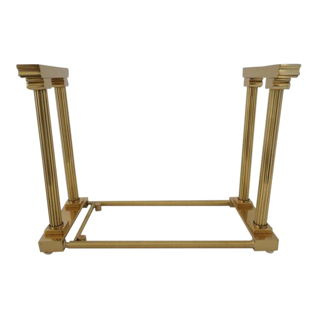 Mid-Century Adjustable Bookend Polished Brass Neoclassic Revival From Italy Book End For Sale
