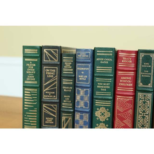 Traditional Set of 12 Franklin Mint 1st Edition Signed Leather Books For Sale - Image 3 of 10