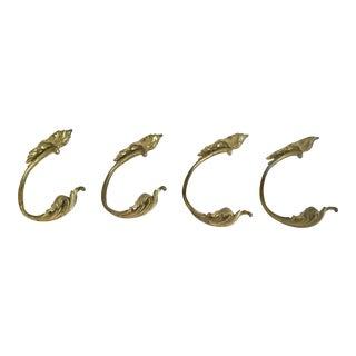 French Gilt Bronze Drapery Tie Backs- Set of 4 For Sale