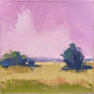 "Carrie Megan ""Lilac Sky"" Contemporary Landscape Oil Painting For Sale"
