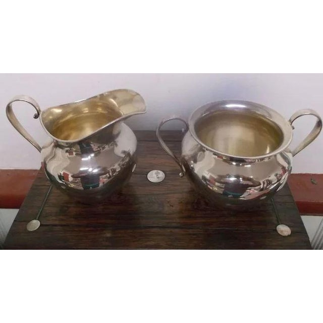 International Silver Sterling Silver Sugar and Creamer by International Silver Co. For Sale - Image 4 of 11