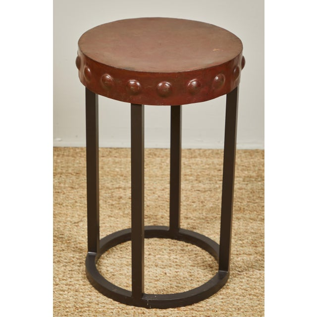 Primitive Iron Side Tables For Sale In Los Angeles - Image 6 of 9